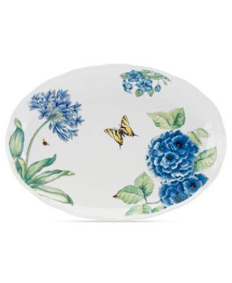 Dinnerware, Butterfly Meadow Blue Large Oval Platter