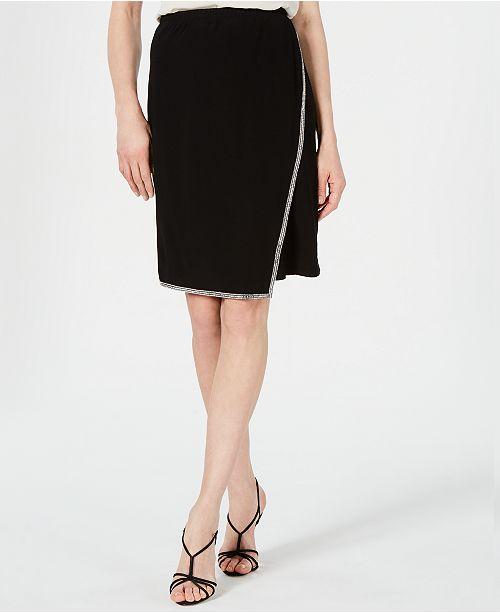 28th & Park Rhinestone-Trim Skirt, Created for Macy's