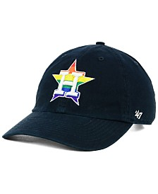 '47 Brand Houston Astros Pride CLEAN UP Strapback Cap