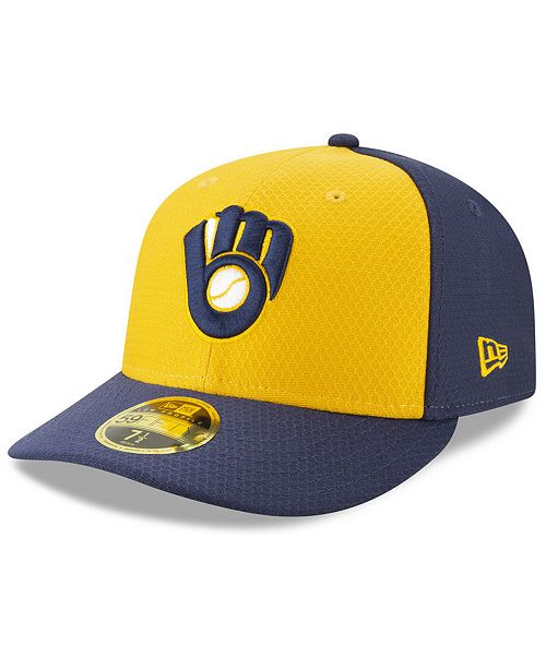 exclusive range lace up in 100% authentic New Era Milwaukee Brewers Batting Practice Low Profile 59FIFTY ...