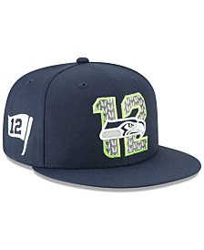 New Era Seattle Seahawks Draft 9FIFTY Snapback Cap