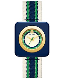 Tory Burch Women's Izzie Multicolor Grosgrain Strap Watch 36mm