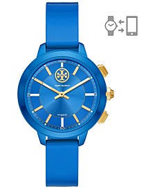 Women's Collins Blue Rubber Strap Hybrid Smart Watch 38mm