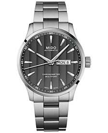 Men's Swiss Automatic Multifort Chronometer Stainless Steel Bracelet Watch 42mm