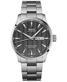 Mido Men's Swiss Automatic Multifort Chronometer Stainless Steel Bracelet Watch 42mm