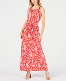 MICHAEL Michael Kors Reef-Print Maxi Dress