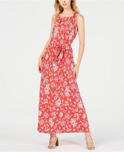 Michael Kors Reef-Print Maxi Dress