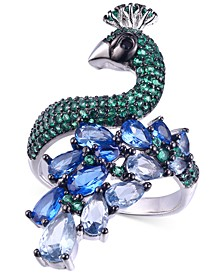 Cubic Zirconia Peacock Statement Ring
