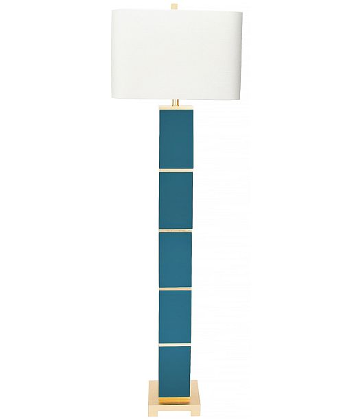 Couture Peacock Teal Floor Lamp