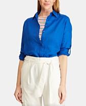 fdad1caee1 Lauren Ralph Lauren Straight Fit Linen Shirt