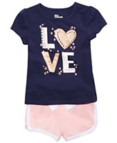 8e811a47c Epic Threads Little Girls Love Graphic T-Shirt & Shorts Separates, Created  for Macy's