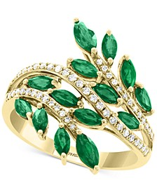EFFY® Emerald (1-3/8 ct. t.w.) & Diamond (1/5 ct. t.w.) Ring in 14k Gold