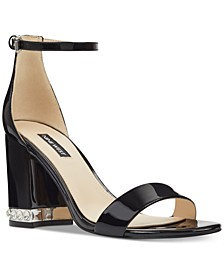 Abigail Block-Heel Sandals