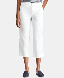 Lauren Ralph Lauren Petite Straight Cotton Twill Pants