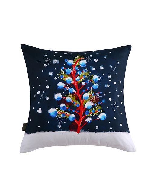 Sara B. Christmas Tree Square Decorative Pillow