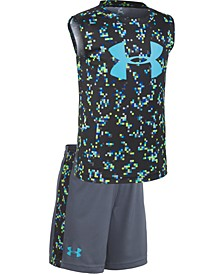 Little Boys UA Digi Camo 2-Pc. Logo Tank & Shorts Set