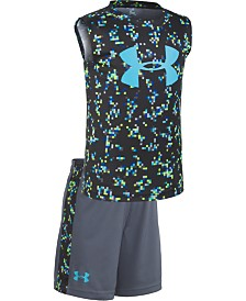 Under Armour Little Boys UA Digi Camo 2-Pc. Logo Tank & Shorts Set