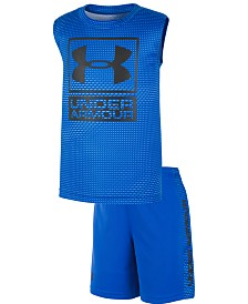 Under Armour Little Boys Sync 2-Pc. Logo Tank & Shorts Set