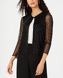28th & Park Beaded Mesh Jacket, Created for Macy's