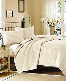 Hampton Hill Velvet Touch Queen 3 Piece Coverlet Set