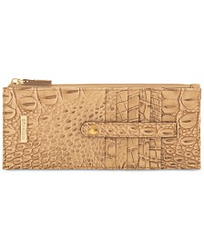 Brahmin Credit Card Melbourne Embossed Leather Wallet