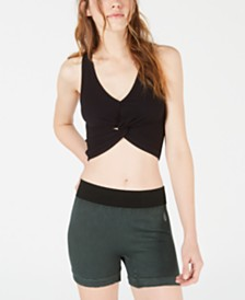 Free People Movement New Moon Ribbed Twist-Front Top