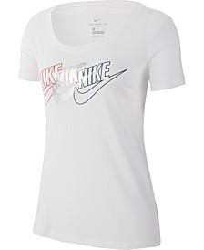Women's Sportswear Cotton Metallic Logo T-Shirt