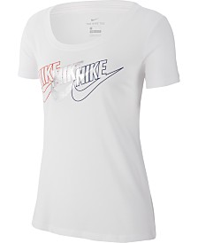 Nike Sportswear Cotton Metallic Logo T-Shirt
