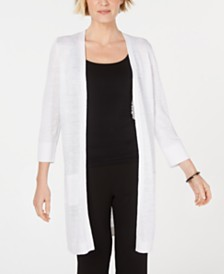 Kasper 3/4-Sleeve Duster Cardigan