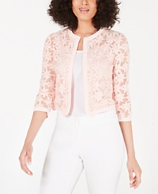 Anne Klein Embroidered Cardigan