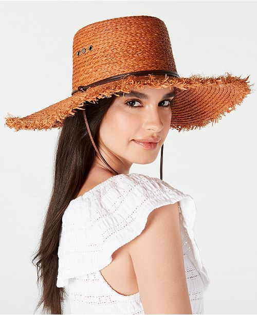 e47ea2f1e7027 Frye Raffia Cybil Telescope Bolero Hat   Reviews - Women - Macy s