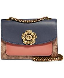 COACH Signature Colorblock Pocket Parker 18 Shoulder Bag