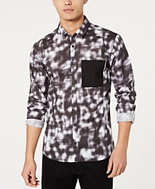 HUGO Men's Extra Slim Fit Blurred Lines Shirt