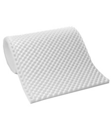 "Lightweight Textured Eggcrate Foam .5"" Mattress Toppers"