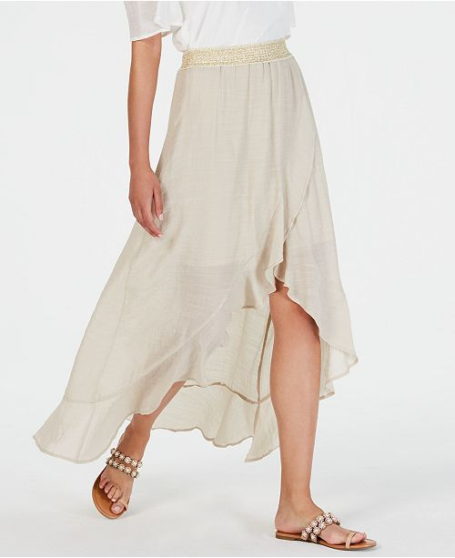 Thalia Sodi Printed Wrapped Ruffle Skirt, Created for Macy's