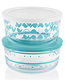 Decorated Doodle 4-Pc. Storage Set