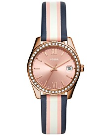 Fossil Women's Scarlette Mini Multicolored Leather Strap Watch 32mm