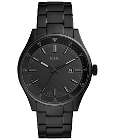 Fossil Men's Belmar Black Stainless Steel Bracelet Watch 44mm
