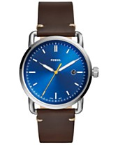 8be05918f Fossil Men's Commuter Brown Leather Strap Watch 42mm