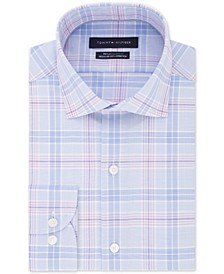 Men's Big & Tall Classic/Regular-Fit THFlex Stretch Non-Iron Plaid Dress Shirt