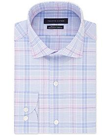 Tommy Hilfiger Men's Big & Tall Classic/Regular-Fit THFlex Stretch Non-Iron Plaid Dress Shirt