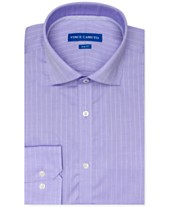 afb3ba9896 Vince Camuto Men's Slim-Fit Stretch Light Purple Tonal Stripe Dress Shirt