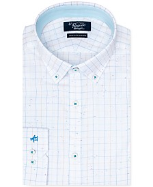 Original Penguin Men's Heritage Slim-Fit Stretch Check Print Dress Shirt