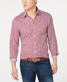 Michael Kors Men's Printed Stretch Button-Down Shirt