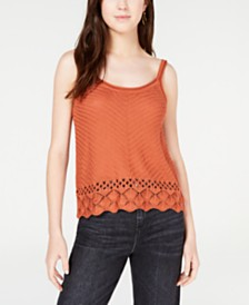 Freshman Juniors' Pointelle-Knit Tank Top