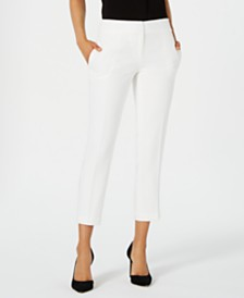 Kasper Petite Textured Straight-Leg Pants