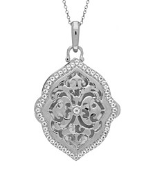 Maggie White Topaz (1 ct. t.w.) Photo Locket Necklace in Sterling Silver
