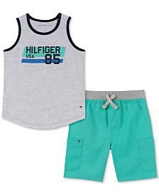 Tommy Hilfiger Baby Boys 2-Pc. Tank Top & Shorts Set