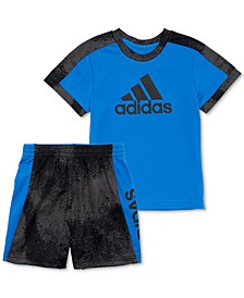 Baby Boys 2-Pc. Colorblocked T-Shirt & Shorts Set
