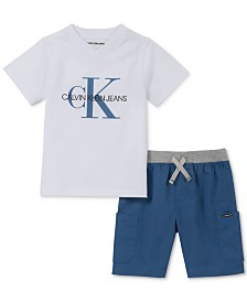 Calvin Klein Baby Boys 2-Pc. Logo-Print T-Shirt & Shorts Set